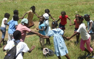 Children Playing, unaware of the unexpected lesson learned in Haiti